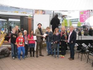 Mit Teilnehmern des Broadwodd Geschichtenwettbewerbs auf der Buchmesse 2013